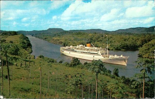 M.V. Oranje, Panama-Kanal Vorderseite