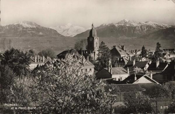 Morges et le Mont Blanc. 1939 Vorderseite