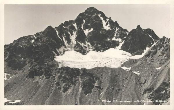 Flüela Schwarzhorn mit Gletscher. 1941 Vorderseite