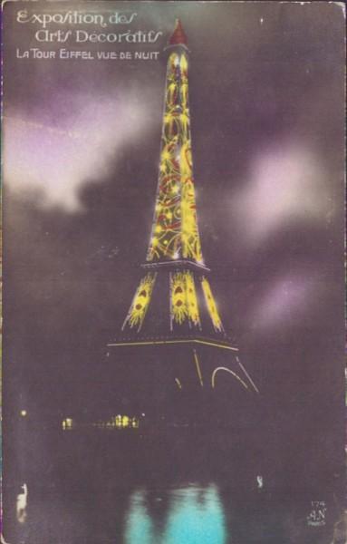 La Tour Eiffel vue de nuit
