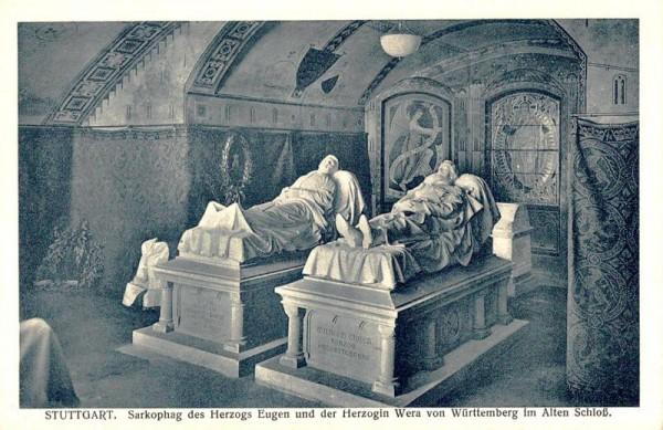 Stuttgart. Sarkophag des Herzogs Eugen und der Herzogin Wera von Württemberg im Alten Schloss Vorderseite