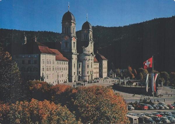 Einsiedeln. Kloster von Norden gesehen Vorderseite