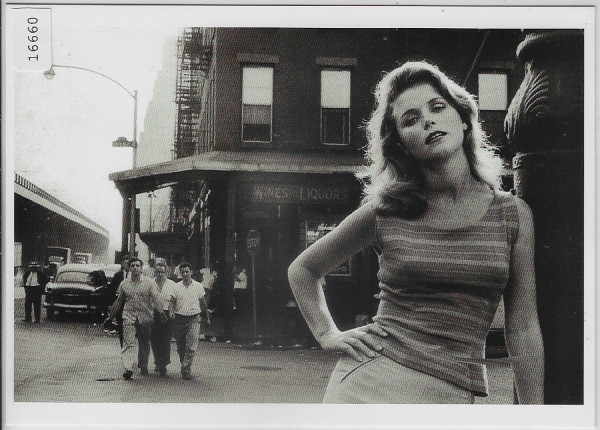 Lee Remick, on the Bowery, New York City 1960