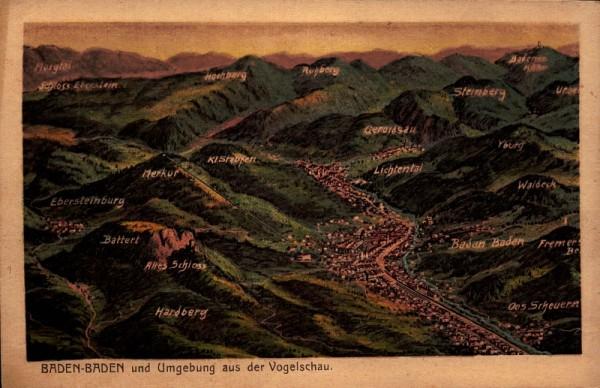 Baden-Baden und Umgebung aus der Vogelschau