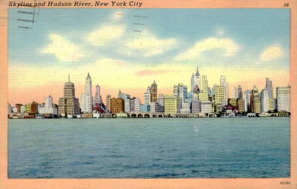 New York City, Skyline and Hudson River  Vorderseite