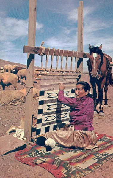 Navajo Weaver at Work Vorderseite