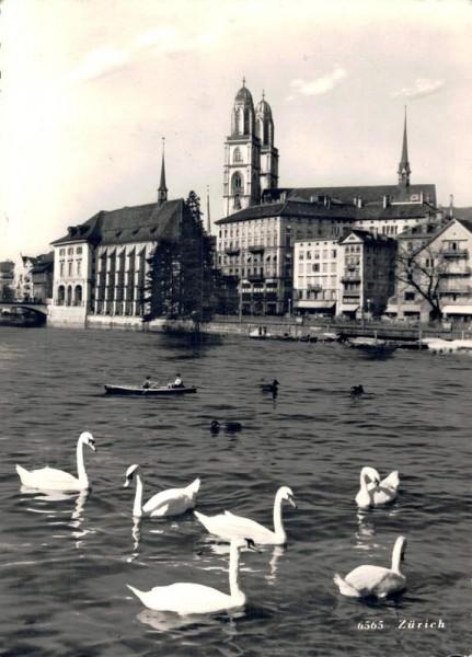 Zürich mit Schwäne Vorderseite