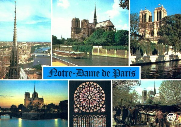 Paris. La Cathédrale Notre-Dame Vorderseite