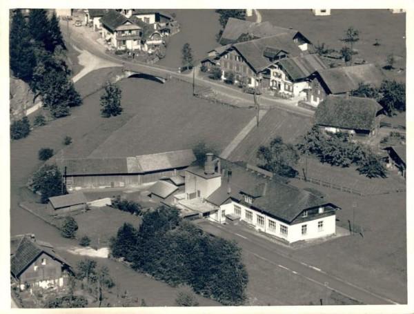 3714 Frutigen BE, Kander, Adelrainstr. 3, Schiefertafelfabrik, Lötschbergstr. 18 Vorderseite