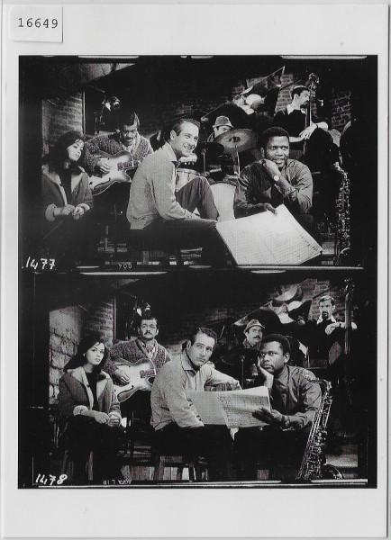 Paul Newman & Sidney Poitier - Dans Paris Blues 1960