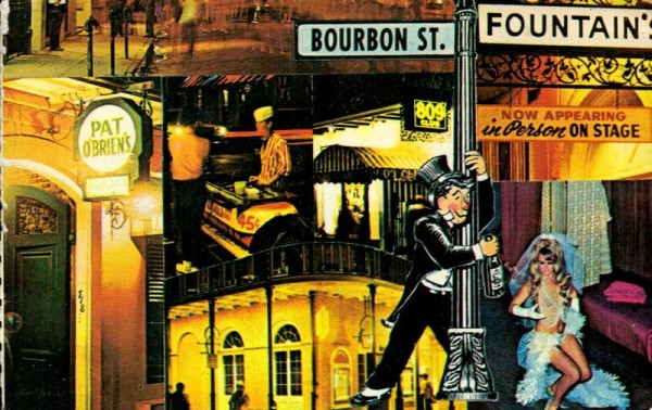 The Bourbon Street in New Orleans, Louisiana Vorderseite