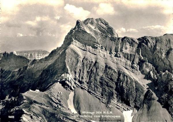 Altmann mit Aufstieg von Rotsteinpass Vorderseite