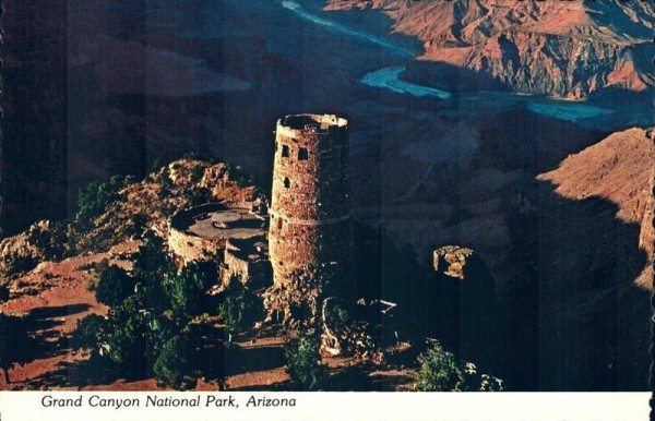 Grand Canyon. The Watchtower at Desert View. National Park. Arizona Vorderseite