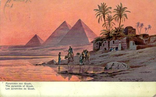 Pyramiden von Gizeh Vorderseite