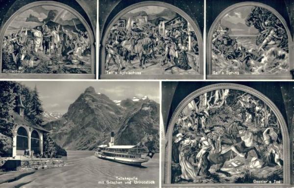 Nach dem Wandgemälde von E. Stückelberg in der Tellskapelle am Vierwaldstättersee Vorderseite