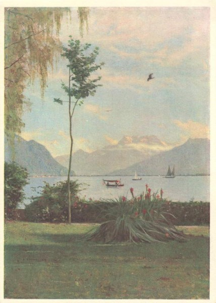 Les Dents du Midi, de Clarens. La Pouponnière-L`Abri. Lausanne Vorderseite