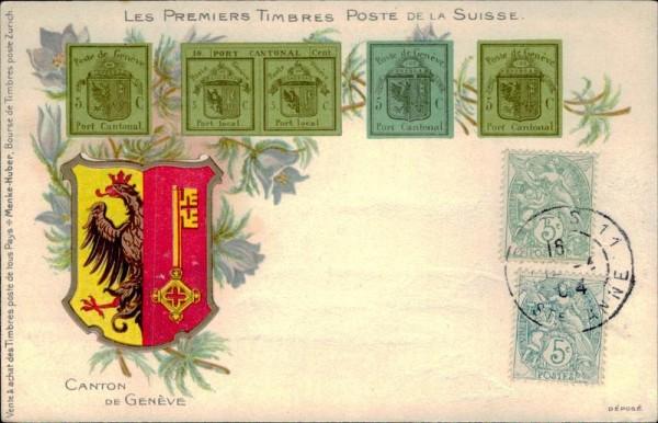 Les premiers timbres poste de la Suisse Vorderseite