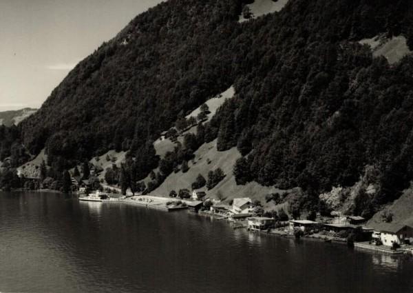 6442 Gersau SZ, Seestr., Fährterminal Gersau Förstli, Vierwaldstättersee Vorderseite