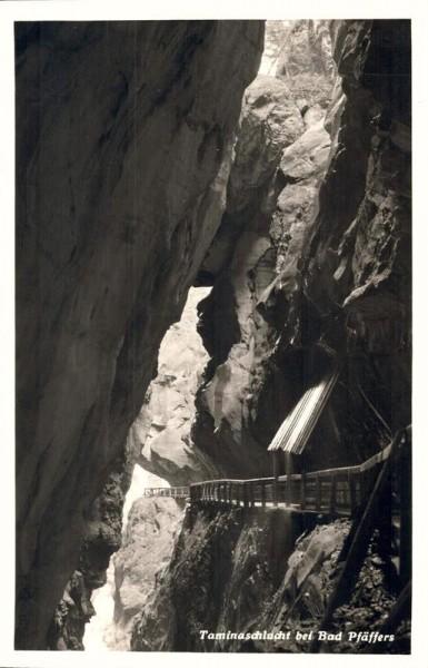 Taminaschlucht bei Bad Pfäfers. 1939 Vorderseite
