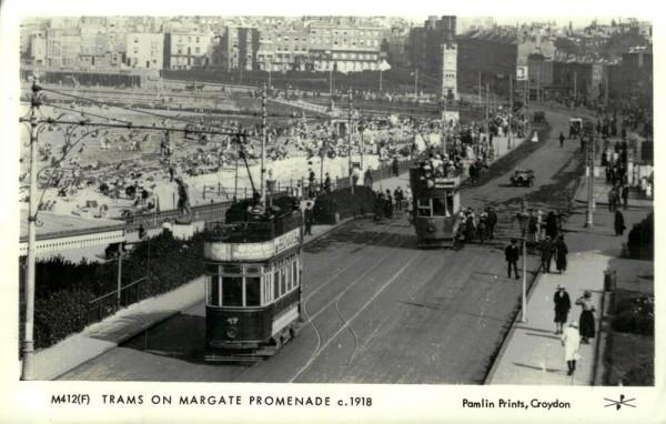 Trams on Margate Promenade ca. 1918 Vorderseite