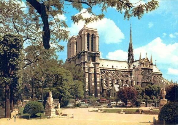 Paris. La Cathédrale Notre-Dame et le Square Viviani Vorderseite