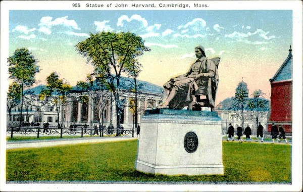 John Harvard (statue) Vorderseite