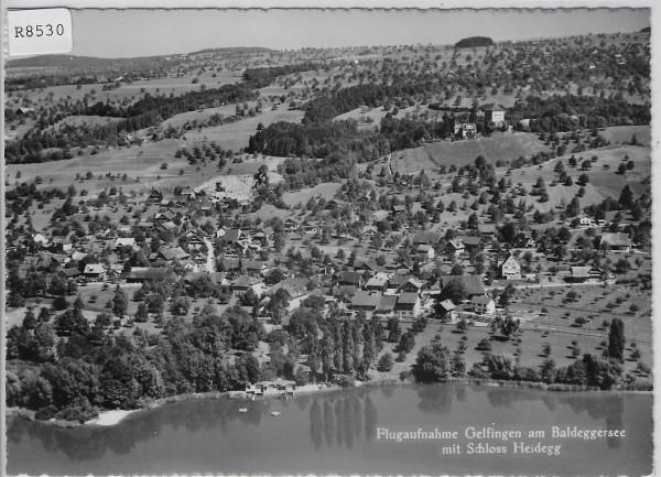 Flugaufnahme Gelfingen am Baldeggersee mit Schloss Heidegg