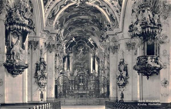 Stift Einsiedeln, Kirche. Hochaltar Vorderseite