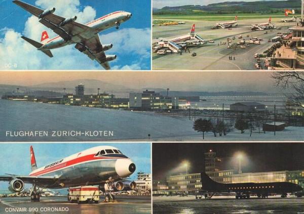Flughafen Zürich-Kloten, Swissair Convair 990 Coronado Vorderseite