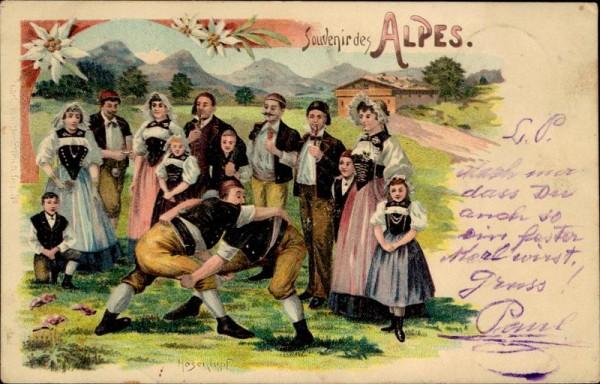 Souvenir des Alpes, Hosenlupf Vorderseite