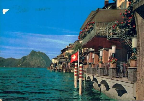 Gandria. Lago di Lugano. Monte S. Salvatore Vorderseite