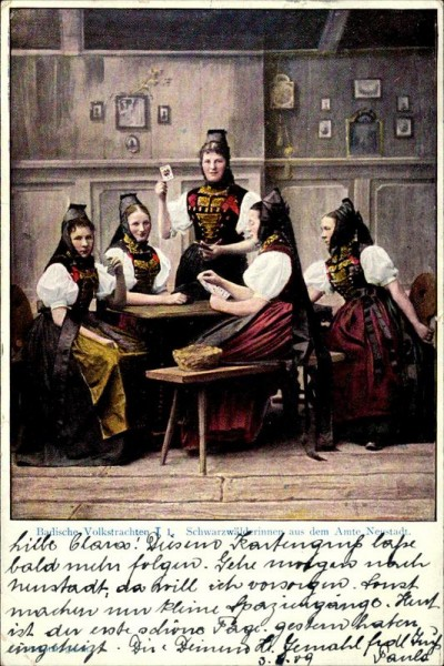 Schwarzwälderinnen aus dem Amte Neustadt Vorderseite