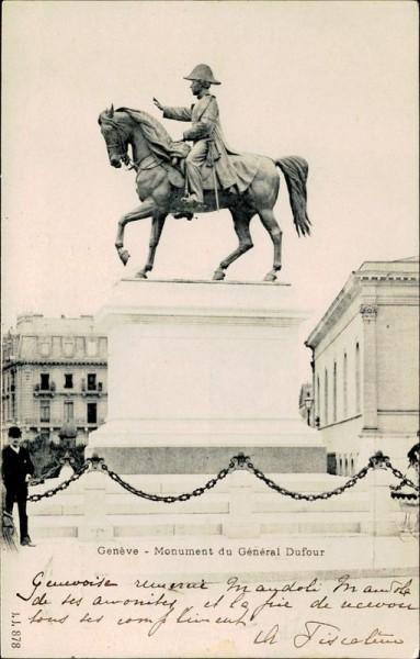 Genève, Monument du Général Dufour Vorderseite