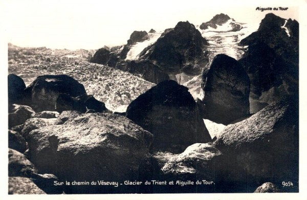 Sur le Chemin du Vésevay - Glacier du Trient et Aiguille du Tour Vorderseite