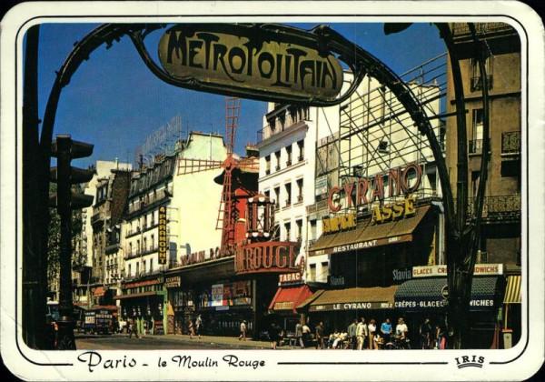 Paris, le Moulin Rouge Vorderseite