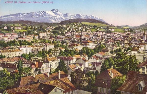 St.Gallen mit Säntis