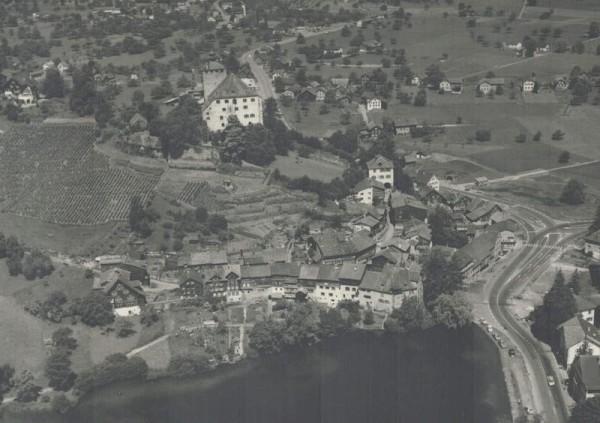 9470 Werdenberg SG, Schloss Werdenberg, Städtli, Werdenbergsee, St. Gallerstr., Staatsstr. Vorderseite