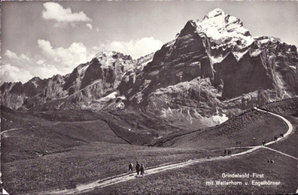 Grindelwald-First mit Wetterhorn und Engelhörner