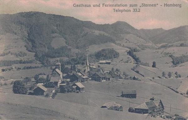 Gasthaus und Ferienstation zum Sternen - Hemberg, 1924 Vorderseite