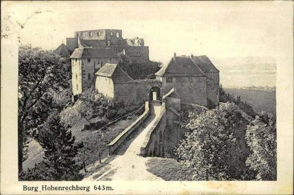 Burg Hohenrechberg Vorderseite