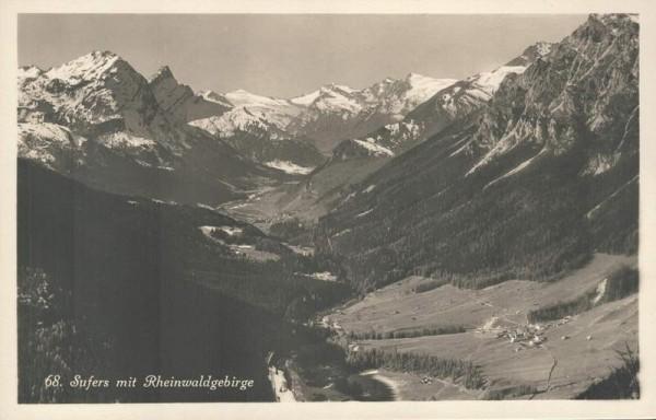 Sufers mit Rheinwaldgebirge. 1933 Vorderseite