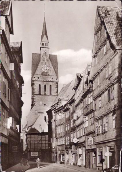 Kramerstrasse mit Marktkirche, Hannover