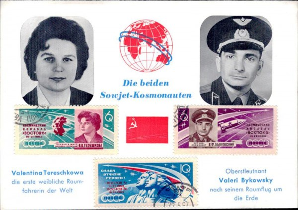 Sowjet-Kosmonauten Vorderseite