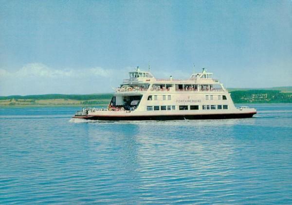 """Fährschiff """"Fontainebleau"""" am Bodensee Vorderseite"""