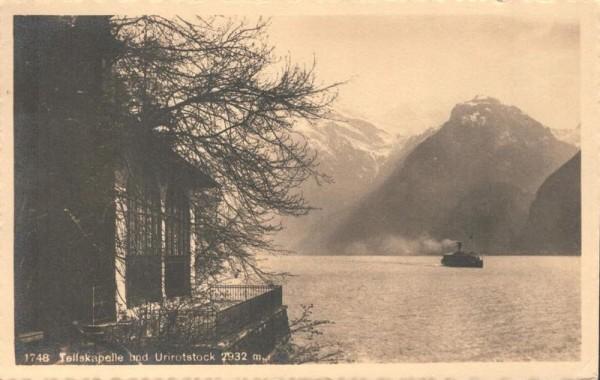 Tellskapelle mit Urirotstock. 1912 Vorderseite