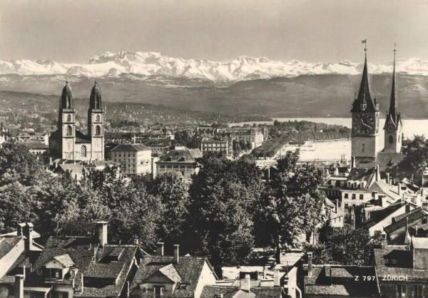 Zürich. Alpen Vorderseite