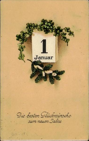 Die besten Glückwünsche zum neuen Jahre. Vorderseite