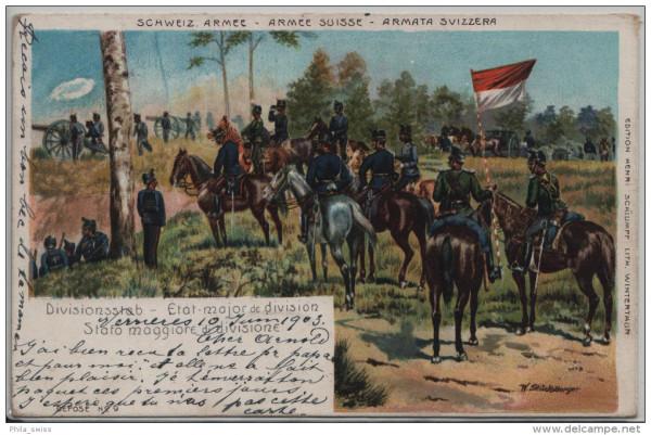 Schweiz. Armee - Armée Suisse - Divisionsstab, Etat major de division - W. Stückelberger