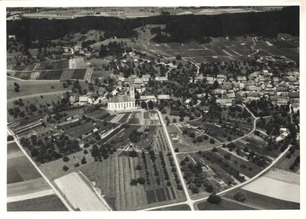 8196 Wil ZH, Alte Kirche-1975 neue Reformierte Kirche gebaut/ Gruenholz Vorderseite