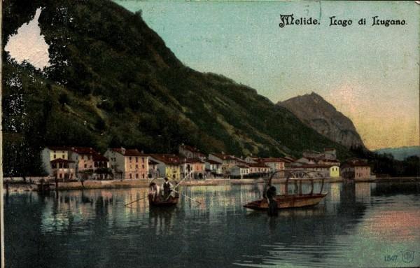 Lago di Lugano, Melide. 1904